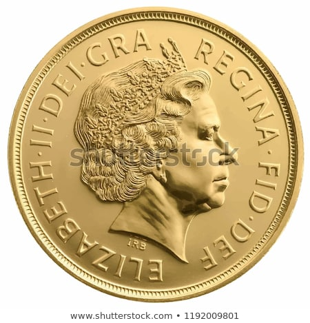 Funt złote monety odizolowany biały działalności ceny Zdjęcia stock © olehsvetiukha