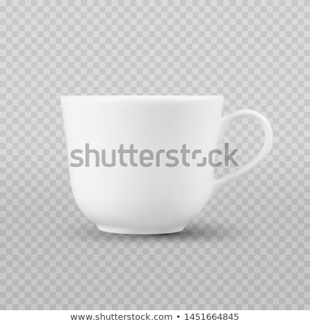 fotó · valósághű · fehér · csésze · izolált · kockás - stock fotó © Fosin