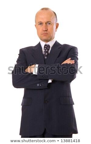 Confident senior businessman with folded arms Stock photo © Giulio_Fornasar