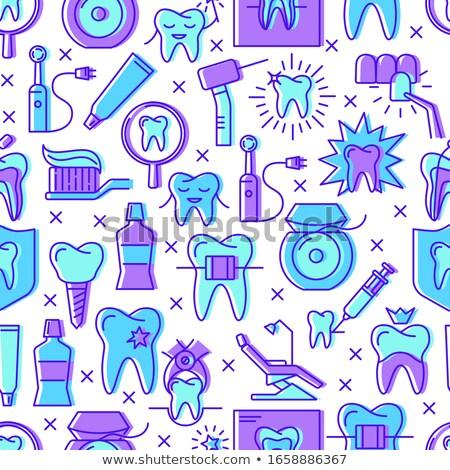 Colored stomatology pattern Stock photo © netkov1