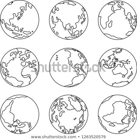 Ayarlamak örnek ikon toprak dünya Stok fotoğraf © Blue_daemon
