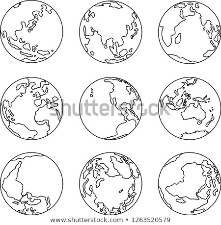 conjunto · ilustração · ícone · terra · globo - foto stock © Blue_daemon