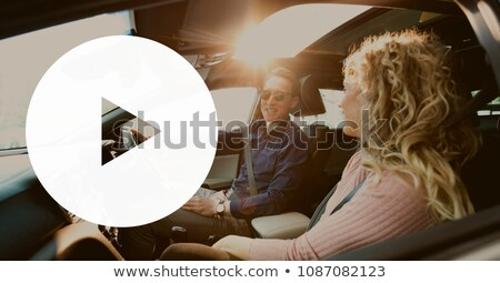 play icon against couple in the car stock photo © wavebreak_media
