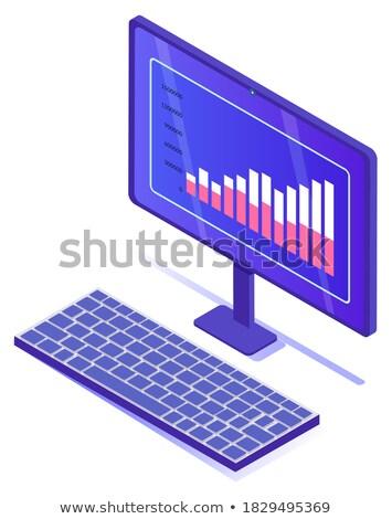 Infografía Screen numérico datos vector Foto stock © robuart