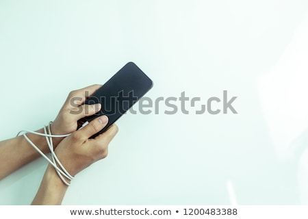 Couple's Hand Tied With Metal Chain Stock photo © AndreyPopov