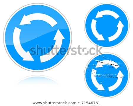 Variants a Circular motion - road sign Stock photo © boroda