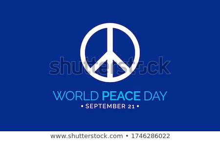 International Peace Day Poster Planet Greeting Stock photo © robuart