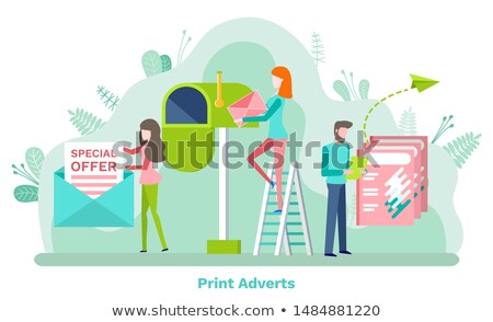 Letter and Post Box, Special Offer, Advert Vector Stock photo © robuart