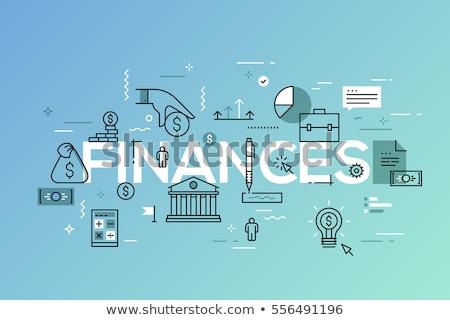 Bank rekening banner klant vergadering Stockfoto © RAStudio