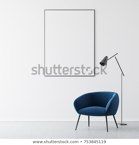 White armchair standing on the floor in front of a window Stock photo © dashapetrenko