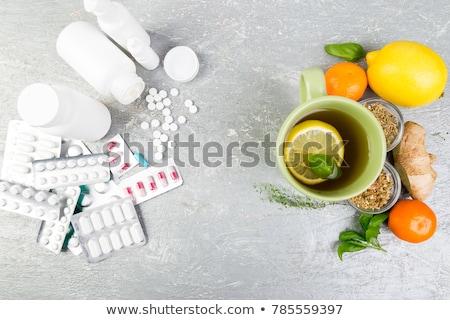 Natural medicine vs conventional medicine concept. Stock photo © Illia