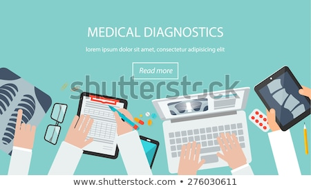 Radiographie Technologie Arzt xray Vektor Zeichen Stock foto © robuart