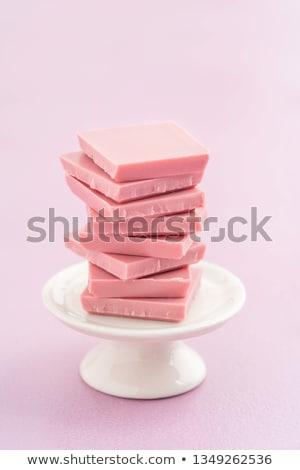 Modieus roze robijn chocolade idee christmas Stockfoto © furmanphoto
