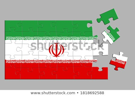 Iran United States Crisis Puzzle Stock photo © Lightsource