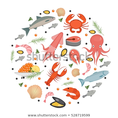 Caviar Seafood Product Collection Icons Set Vector Stock photo © pikepicture