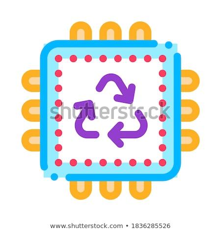 リサイクル プロセッサ アイコン ベクトル 実例 ストックフォト © pikepicture