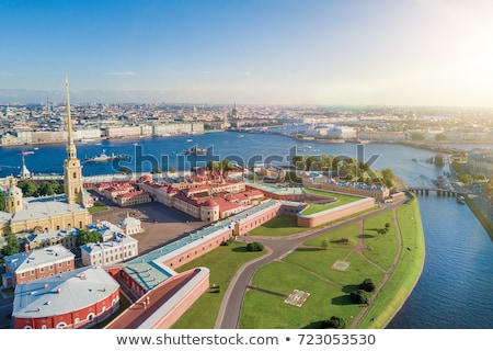Rusland rivier stad Stockfoto © borisb17