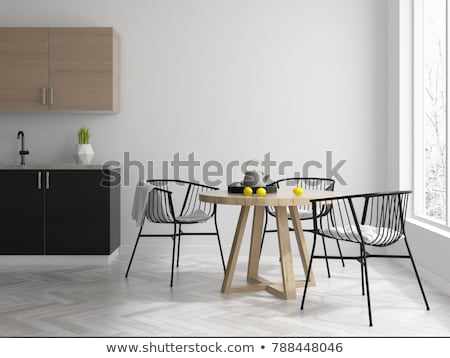 Modern Dining Area of Home Stock photo © 2tun