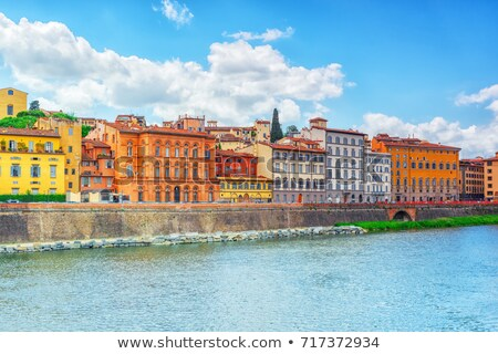 Arno river waterfront of Florence panoramic view Stock photo © xbrchx