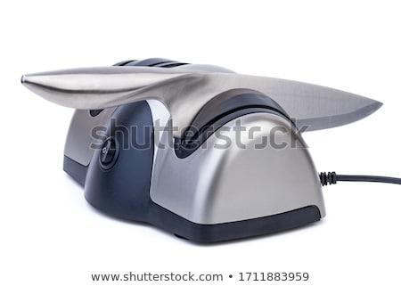 Elektrische mes puntenslijper geïsoleerd witte machine Stockfoto © digitalr