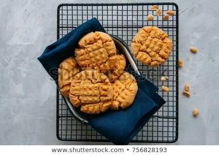 Tereyağı kurabiye ahşap arka plan grup tatlı Stok fotoğraf © Alex9500