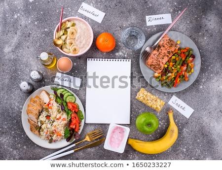 Sani equilibrata menu giorno mattina sera Foto d'archivio © furmanphoto
