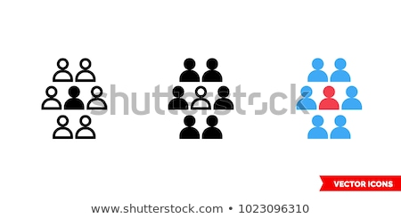 Stand out from the crowd isolated on blue Stock photo © johnkwan