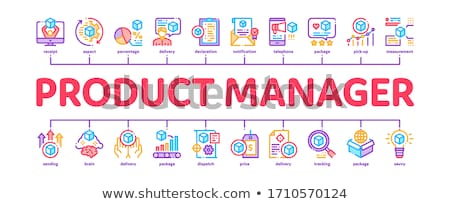 Product Manager Work Minimal Infographic Banner Vector Stock photo © pikepicture