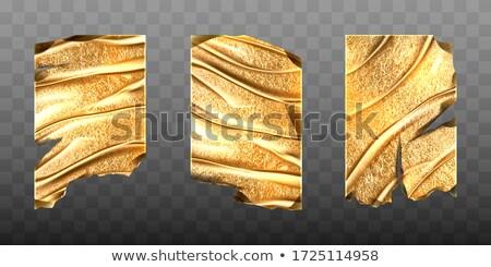 Metal torn golden pieces on transparent Stock photo © evgeny89