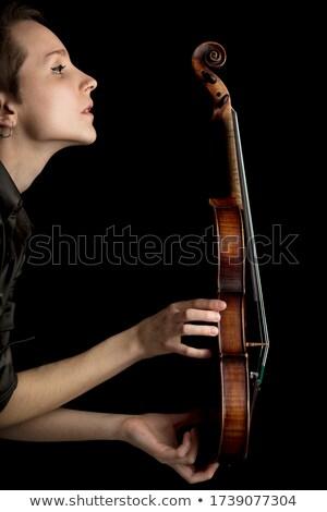 女性 クラシカル バロック バイオリン プロファイル ストックフォト © Giulio_Fornasar