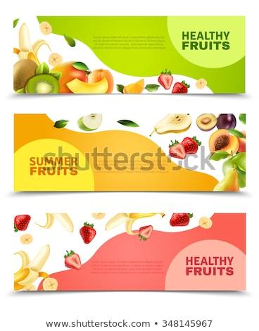 Amarillo manzana apetitoso frutas aislado naturaleza Foto stock © Imaagio