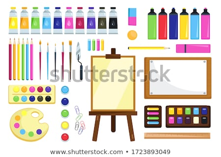 Stationery for Work Creativity and Painting Vector Stock photo © robuart