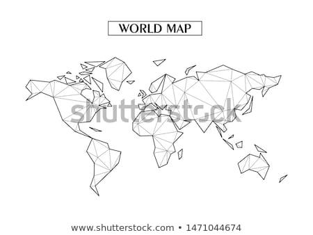 Moderno mapa do mundo quarto vermelho papel de parede escuro Foto stock © Amaviael