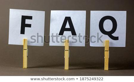 tiempo · preguntas · alto · reloj · palabras - foto stock © kbuntu