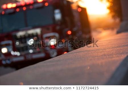 Wóz strażacki czerwony odizolowany biały cień samochodu Zdjęcia stock © SimpleFoto