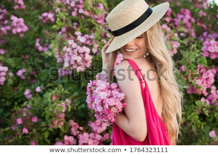 woman in a long pink dress stock photo © paha_l