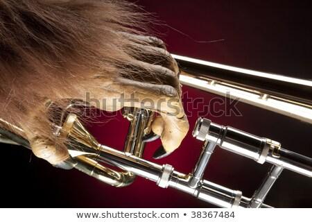 Halloween Trombone Monster Hand Stock fotó © mkm3
