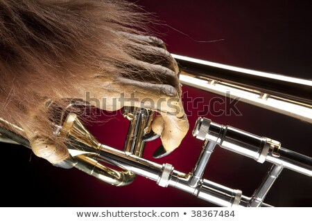 Halloween Trombone Monster Hand stock photo © mkm3