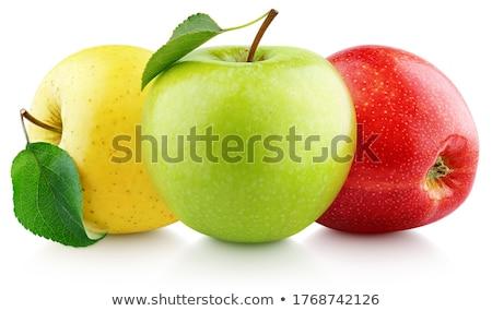 três · maçãs · isolado · branco · maçã · vermelho - foto stock © elenaphoto