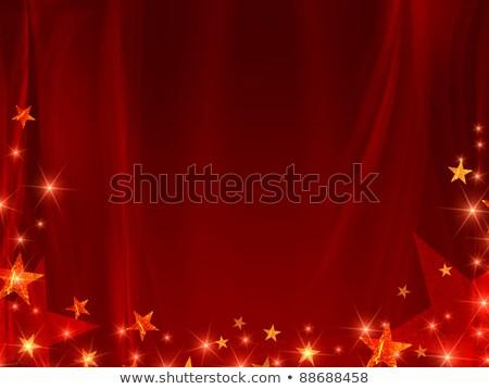 golden red stars background Stock photo © marinini
