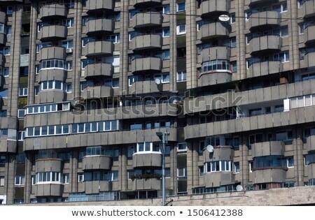 румынский здании фасад окна Бухарест Румыния Сток-фото © smithore