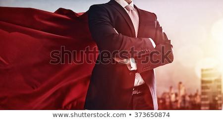 güvenlik · güçlü · lider · kalabalık · arka · plan · işadamı - stok fotoğraf © 4designersart
