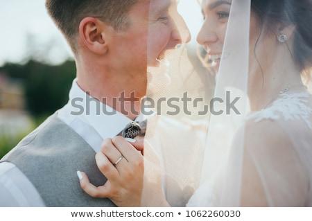 çekici · düğün · çift · açık · havada · plaj · mutlulukla - stok fotoğraf © tobkatrina