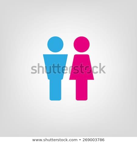 トイレ シンボル 男性 女性 少女 笑顔 ストックフォト © Archipoch