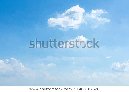 Sarı duvar bulutlu mavi gökyüzü arka plan Stok fotoğraf © pekour