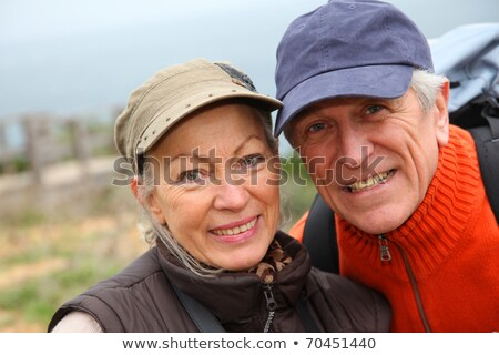 couple · nature · arbres · laisse · marche - photo stock © photography33