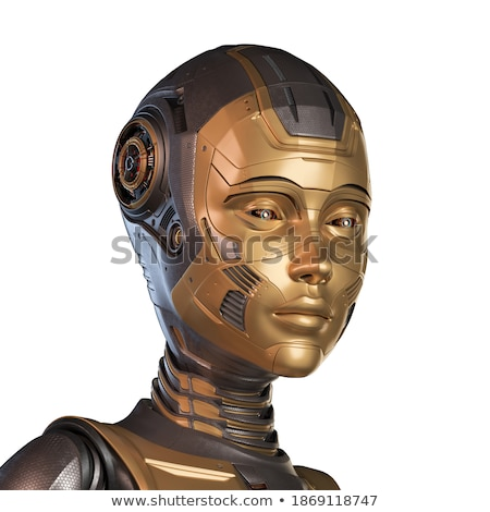 Portre fantezi cyborg kız kadın seksi Stok fotoğraf © fanfo