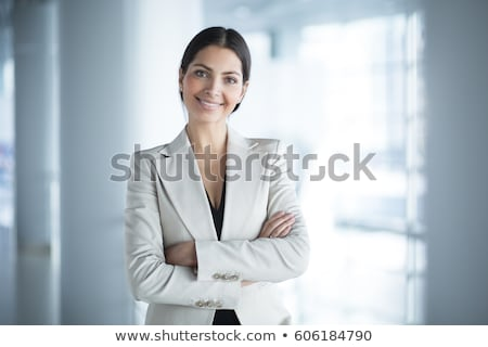 Smiling Woman With Tilted Head Stock photo © stryjek