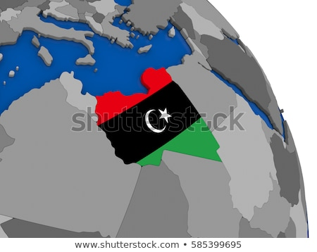 リビア · 政治的 · 地図 · 重要 · 都市 - ストックフォト © jelen80