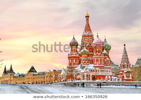 Stockfoto: Kathedraal · Red · Square · Moskou · Rusland · winter · gebouw